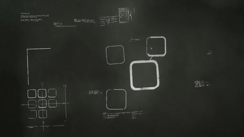 Software Development Blackboard Scribblings Stock Video Footage