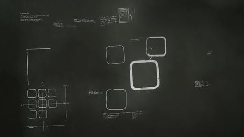Software Development Blackboard Scribblings Stock Video Footage