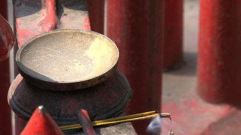 Incense offering Stock Video Footage