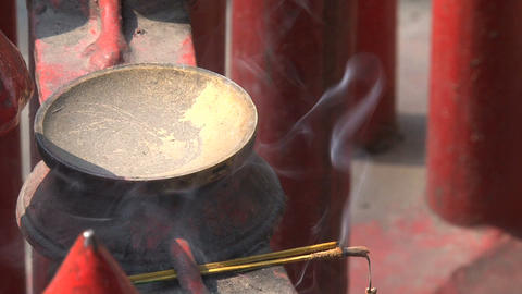 Incense offering Footage