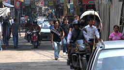 Busy morning in thamel Kathmandu Footage