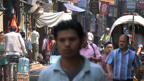 People in Thamel Kathmandu Stock Video Footage