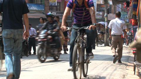 street thamel kathmandu Stock Video Footage