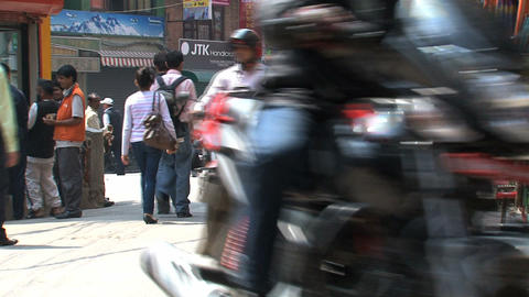 street thamel kathmandu Footage