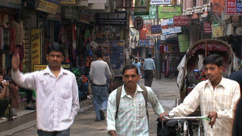 Local street scene in thamel Kathmandu Stock Video Footage