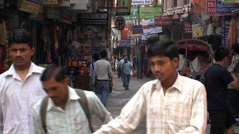 Local street scene in thamel Kathmandu Stock Video Footage