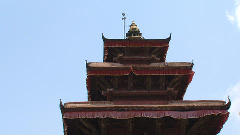 Rooftop from a temple at Durbar Square Footage