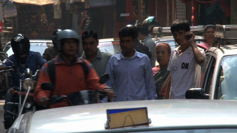 Traffic in the streets of Kathmandu Stock Video Footage