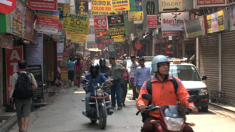 Traffic in the streets of Kathmandu Footage