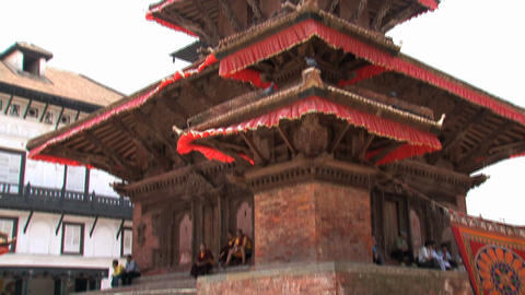 Tilt temple Durbar Square Stock Video Footage