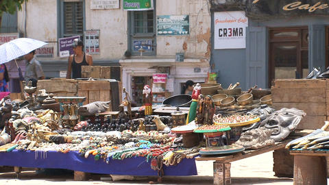 Tourism market at Durbar Square Stock Video Footage