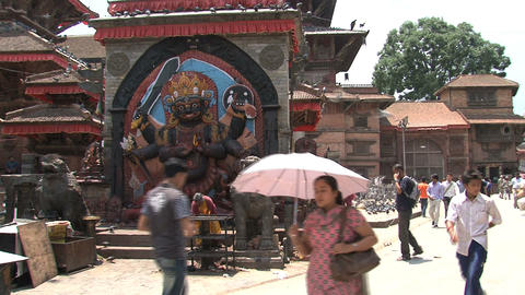 Durbar square people Stock Video Footage