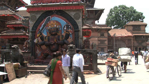 Durbar square people Footage
