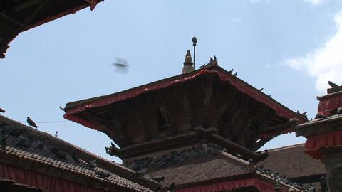 Rooftop temple tilt Stock Video Footage