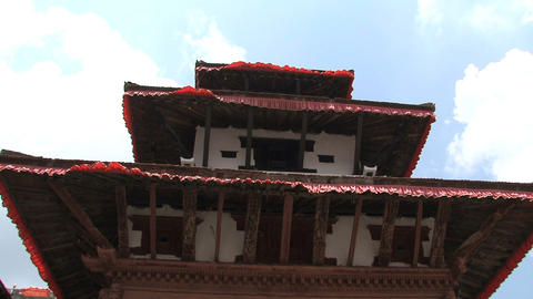 Rooftop temple Stock Video Footage