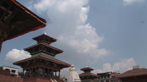 Rooftop temples Stock Video Footage