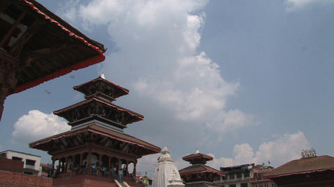 Rooftop Temples stock footage