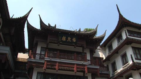 Tilt Yuyuan garden Stock Video Footage
