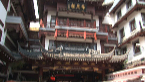 People to rooftop tilt Yuyuan garden Footage