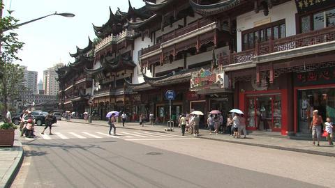 Yuyuan garden street Stock Video Footage