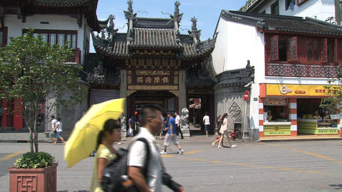 People walking around Yuyuan garden Stock Video Footage