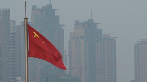 Chinese flag Stock Video Footage