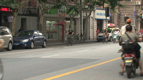 Busy road in Shanghai Stock Video Footage