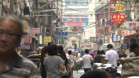 Typical chinese street Stock Video Footage