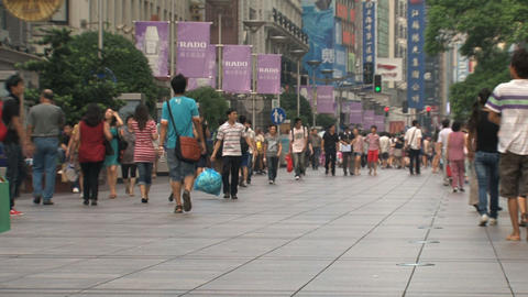 Busy Nanjing Road Footage