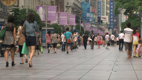 Busy Nanjing Road Stock Video Footage