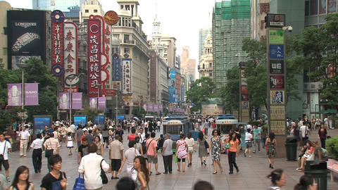 Busy street Nanjing Road Stock Video Footage