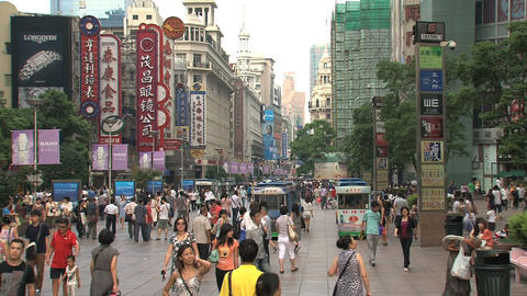 Busy street Nanjing Road Footage
