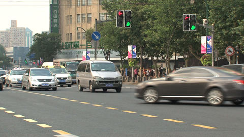 Street downtown Shanghai Stock Video Footage