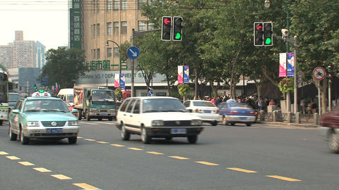 Street downtown Shanghai Stock Video Footage