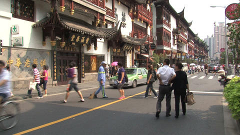 Street in front of the Yuyuan Garden Footage