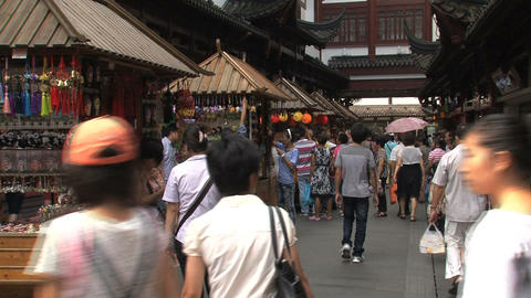 Market at the Yuyuan Garden Stock Video Footage