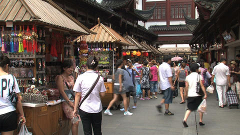 Market at the Yuyuan Garden Footage