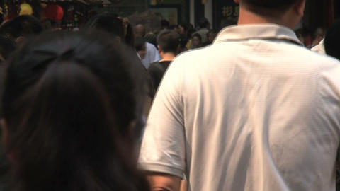 People in the streets of Yuyuan Garden Footage