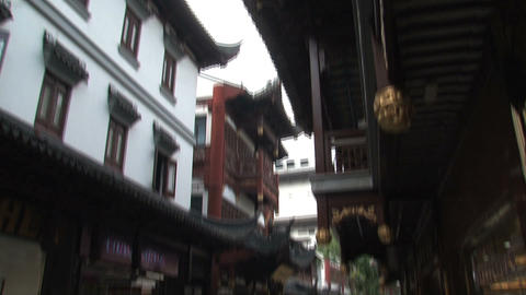 Tilt street Yuyuan Garden Stock Video Footage