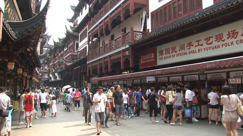 Crowd at Yuyuan Garden Stock Video Footage