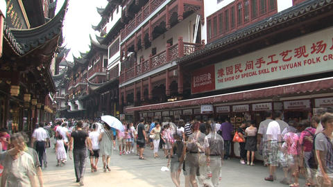 Yuyuan garden crowd time lapse Stock Video Footage