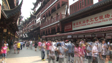 Yuyuan garden crowd time lapse Footage