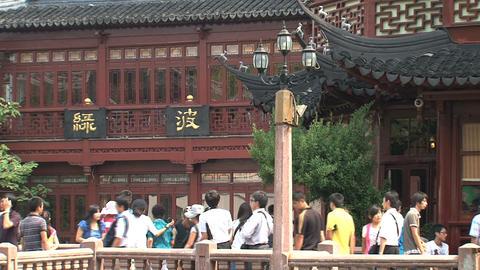 People near the huxinting tea house Footage