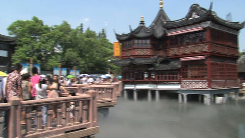 Huxinting tea house Stock Video Footage