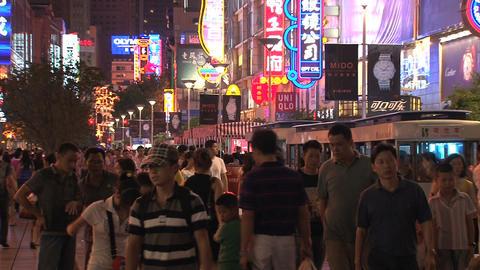 Nanjing Road street Stock Video Footage