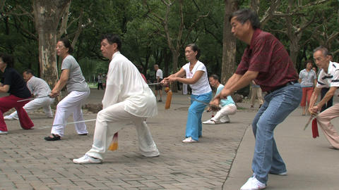 Sword practice Footage