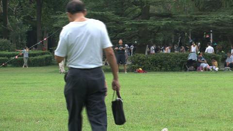 Zhongshan park crowd Footage