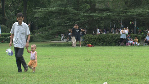 Zhongshan park crowd Stock Video Footage