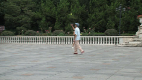 People playing badminton Stock Video Footage