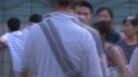 Shanghai people blur time lapse Stock Video Footage